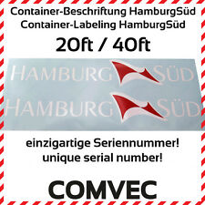 COMVEC 1:13 - 1:16 Container-Beschriftung HamburgSüd für 20ft/40ft Container