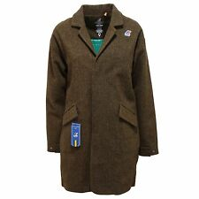 4382R cappotto donna K-WAY ARIANNE WOOL PADDED verde/marrone coat jacket woman