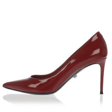 PHILIPPE MODEL PARIS Nuova Scarpa Tacco Rosso Donna Decolletes Pelle Made Italy