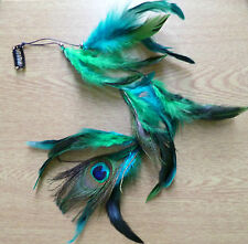 Long Peacock Feather Hair Clip/ Clip in hair extension/Feather extension! NEW