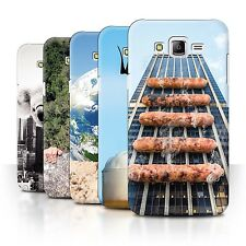 STUFF4 Phone Case/Back Cover for Samsung Galaxy J7/J700 /Down Under