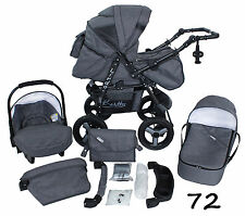 Pushchair + 3in1 + Car Seat + baby pram + stroller + Buggy Travel System FROM UK
