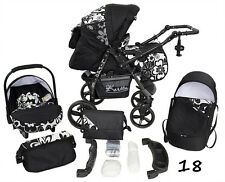 Pushchair + 3in1 + Car Seat + baby pram + stroller + Buggy Travel System MADE UE