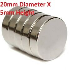 1 to 50 Pieces of 20mm x 5mm Neodymium Magnets N52 Rare Earth NdfeB Magnet