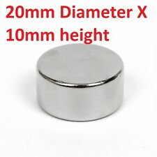 1 to 20 Pieces of 20mm x 10mm Neodymium Magnets N52 Rare Earth NdfeB Magnet