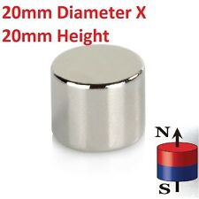 1 to 20 Pieces of 20mm x 20mm Neodymium Magnets N52 Rare Earth NdfeB Magnet
