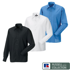 Russell Collection Homme Manches Longues Entretien Facile Chemise Popeline 934M