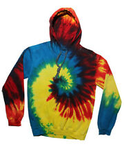 Tie-Dye TDUK 9250TD Tie Dye Hooded Sweatshirt, Top Rainbow Multicoloured Hoodie