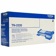Genuino Brother tn-2220 NEGRO CARTUCHO de tóner láser - ALTA CAPACIDAD