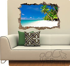Palmiers stickers muraux plage sticker art ebay for Plage stickers muraux