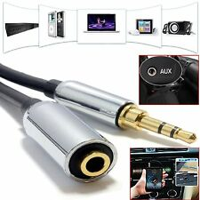 New 3.5mm AUX Male to Female Plug Stereo Audio Headphone MP3 Extension Cable Uk