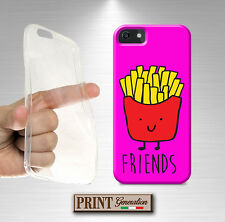 Housse pour Apple Iphone 4 5 5 S 5G 5C 6 6s PLUS,BEST FRIENDS Frites silicone mo