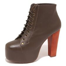 8002O tronchetto donna JEFFREY CAMPBELL LITA verde shoe boot woman