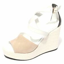 B0604 sandalo donna HOGAN scarpa zeppa corda shoes women