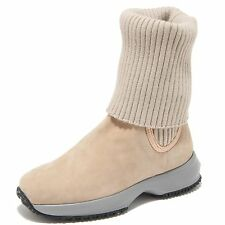 8515M Stivale HOGAN JUNIOR INTERACTIVE scarpe bimba polacco shoes kids beige