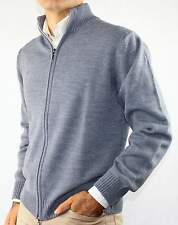 GIACCA ZIP CARDIGAN UOMO MISTO LANA,MADE IN ITALY.GOLF PULLOVER TG M-L-XL-2XL-3X