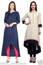 Designer Casual Wear Rayon Latest Kurti COMBO