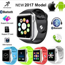 NEW 2017 A1 Bluetooth Smart Watch Phone +Camera SIM Card For Android IOS-UK