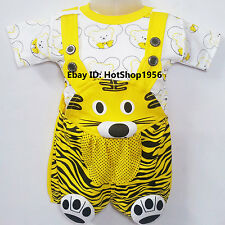 Newborn Baby Infant Girl Boy Cotton Clothes Outfits Dress Dungaree ,0 -9Months
