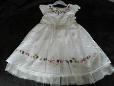 New Beautiful Girls Summer Cotton Dobby Dress in Pink or White, Sizes 3-8 yrs.