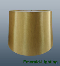 """8"""" 10"""" 12"""" Empire Drum Silk Fabric Lamp Light Shade Table Lamp Ceiling GOLD"""