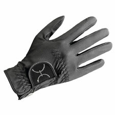 Uvex SPORTSTYLE GLAMOUR Diamante PU Leather Horse Riding GLOVES White/Black 6-9