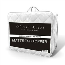 Luxury Quilted Mattress Topper Enhancer, Single Double King Super King Size