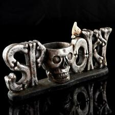 Resin Skull Head Design Tealight Candle Holder Candlestick Stand Decor Gift PICK