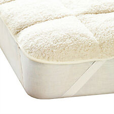 Luxury Teddy Mattress Topper Enhancer, Single Double King Super King Size