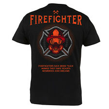 Camiseta BOMBERO Courage Sacrifice Honor 100% Algodón Ideal Para Bomberos