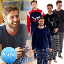 Mens Pyjamas Long Sleeve T Shirt Top Trousers Pjs Nightwear Lounge Wear Pants