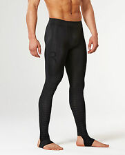 2XU Mens Power Recovery Compression Tights (Black/Black)