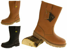 Mens Leather NORTHWEST TERRITORY Safety Steel Toe Caps Shoes Rigger Work Boots