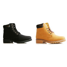 Womens Ladies High Top Boots Hiking Desert Combat Ankle Work Shoes (Size 3-8)