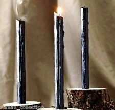 Spell Candles: Black Taper Candle, Pagan, Wicca, Altar, Or Healing.