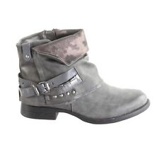Botines de mujer bucle et remaches gris CATALINA
