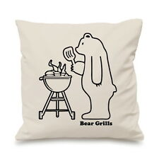 a149c94c Bear Grills Funny Comedy Spoof Grylls BBQ Custom Cushion Cover Gift