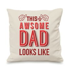 This Is Awesome Dad Fathers Day Gift Funny Custom Cushion Cover Gift