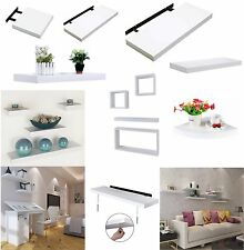 HUDSON HIGH GLOSS WHITE FLOATING WALL MOUNTED SHELF WALL CUBES CORNER SHELVES
