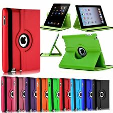 Leather 360 Degree Rotating Smart Stand Case Cover For APPLE iPad Models
