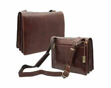 Visconti Italian Vintage Collection HARVARD Leather Messenger Bag ITL90