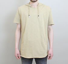 Mens Crooks and Castles Ashes Knit S/S Hooded Pullover - Khaki Sand - WAS £89.99