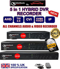 DVR 4 8 16 Channel CCTV RECORDER P2P HD 1080P TVI AHD Analogue IP Camera UK spec