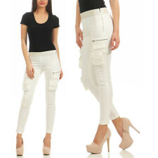 Pinko Xenon Skinny Drill Superstrech Jeans Leggins Hose Weiss  EXCLUSIVE FASHION