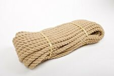 14mm Natural Jute Hessian Rope Cord Twine Braided Twisted Boating Garden Boating