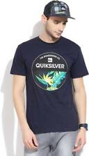 Quiksilver Printed Mens Round Neck Blue T-Shirt (Flat 60% OFF) -9AQ