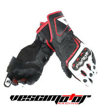 Guanti Dainese Carbon D1 Long Gloves Black/White/Lava Red