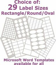 Gloss White Paper Laser Labels Rectangle , Round or Oval Stickers 5 A4 Sheets