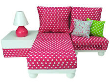 Pink Chaise Lounge Chair Sofa Love Seat Furniture Set for 18
