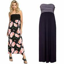 Glamour Empire. Women's Maxi Dress Strapless Flared Skirt with Empire Waist. 268